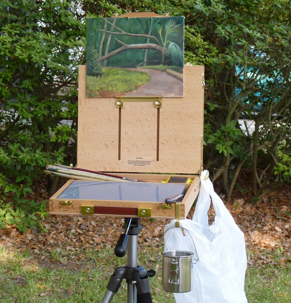 Portable painting setup
