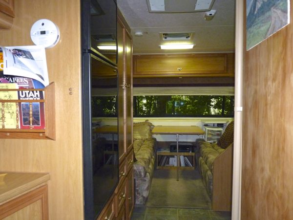 Interior view of RV rig
