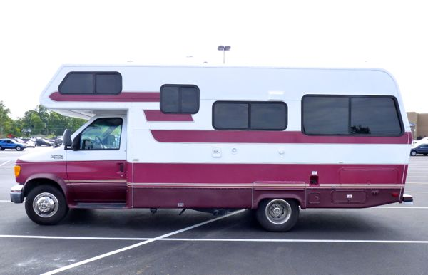 Side of motorhome
