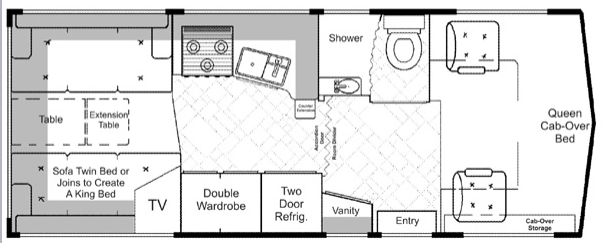 Drawing of RV layout