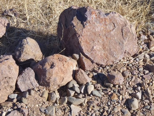 Several sizes of rocks