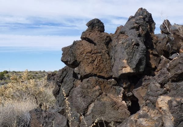 Pile of lava rock