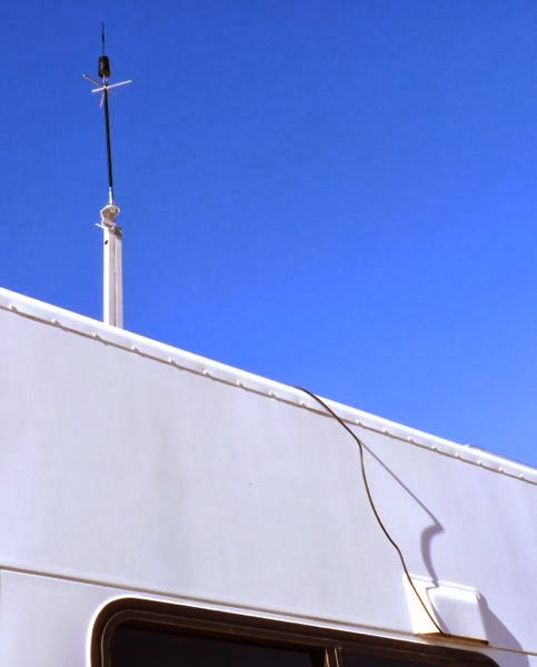 Antenna attached to TV mast