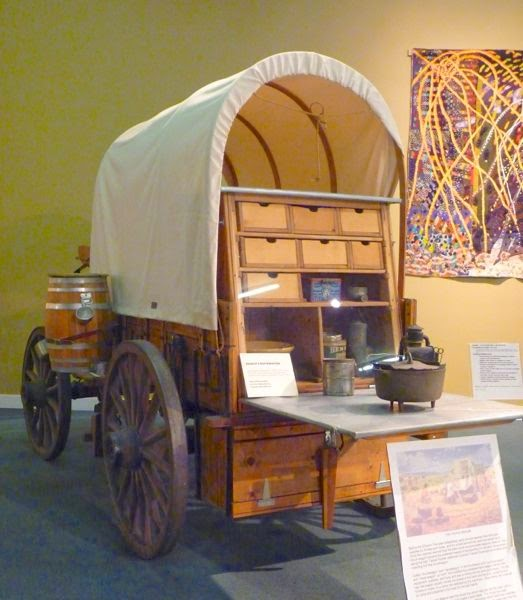 Display of trail kitchen wagon