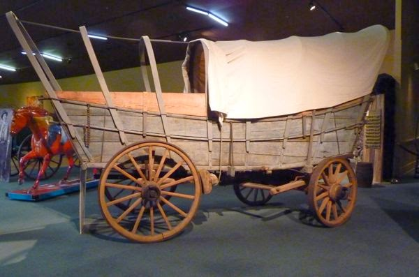 Pioneer wagon in museum