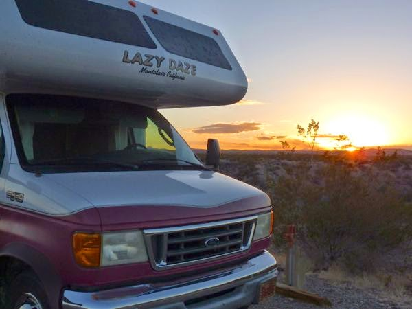 RV at sunset