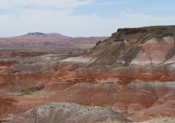 Red mesa in the desert