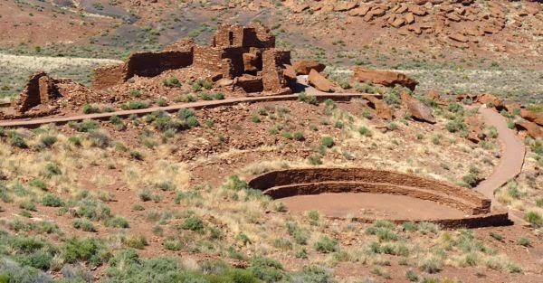 Ruins of native village