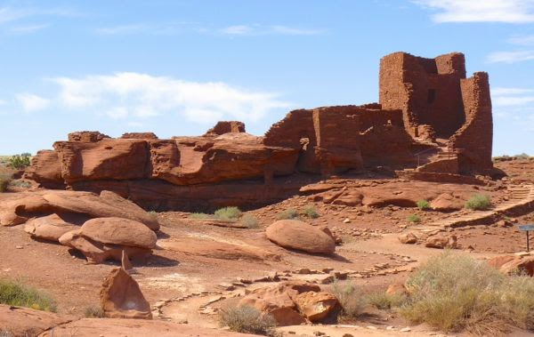 Ruins of native pueblo