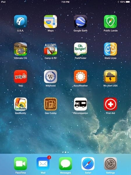 Screen shot of iPad mini