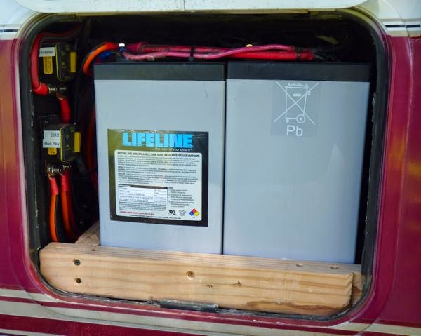 Lifeline AGM batteries installed