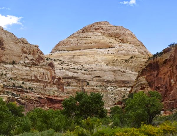 Huge dome shaped rock formation