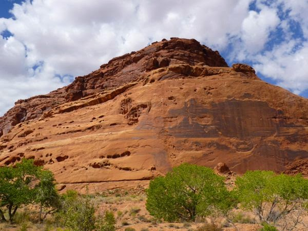Large red rock cliff