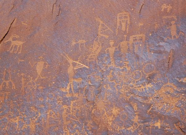 Native rock drawings