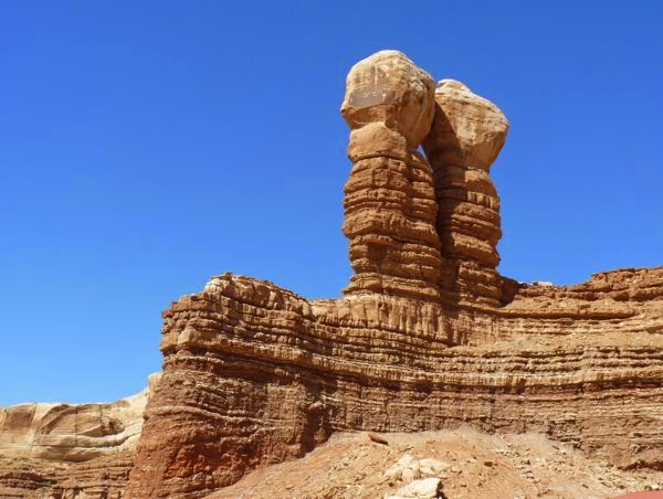 Rock formation of two pillars