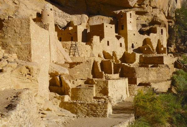 Ruins of native cliff dwellings