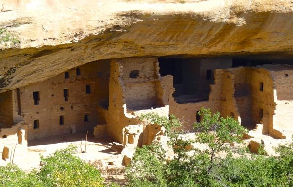 Native cliff dwelling ruins