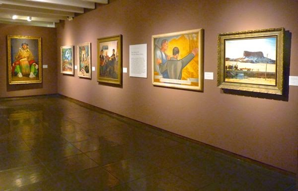 Paintings hanging in museum