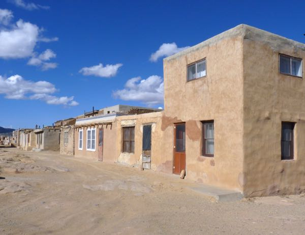 Adobe homes on mesa