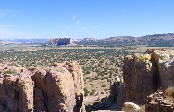 Rocks and distant mesa