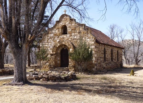 Stone chapel in Ft. Stanton