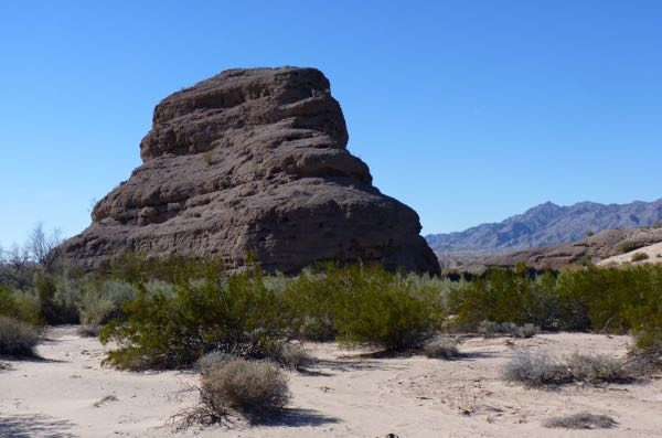 Huge rock in the desert