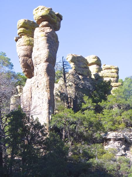 Tall rock formations