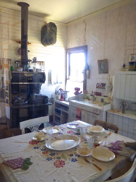 Old kitchen with wood stove