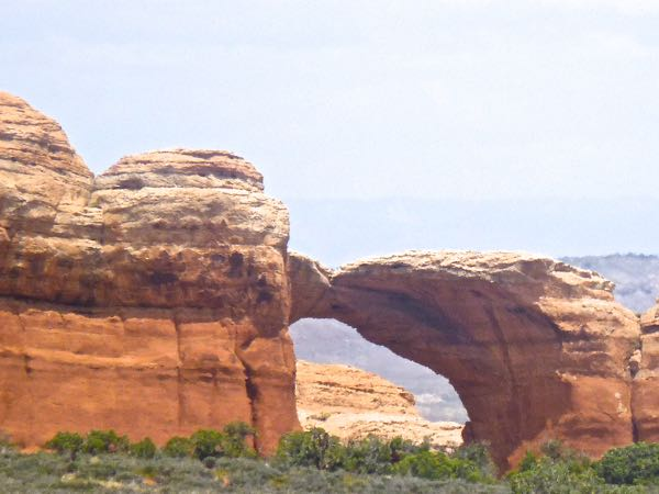 Rock formation with arch