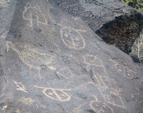 Multiple rock art designs
