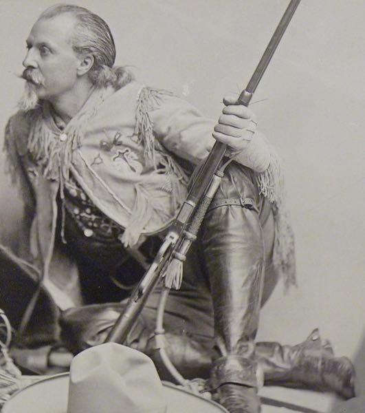 William Cody with rifle