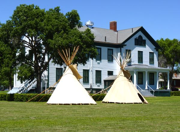 Building, tepees