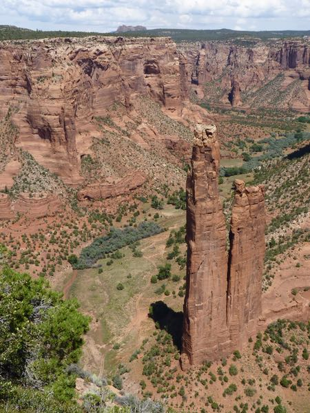 Rock pillar, cliffs, canyon