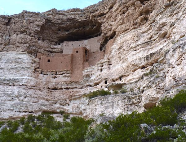 Cliff dwelling, cliff, trees