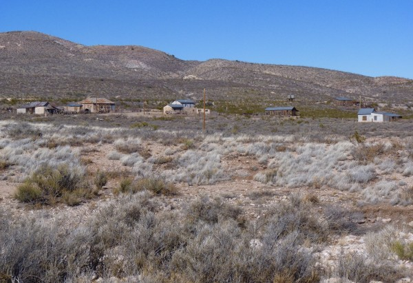 Ruins of mining town