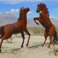 Broceda Sculptures in Desert. Borrego Springs, CA